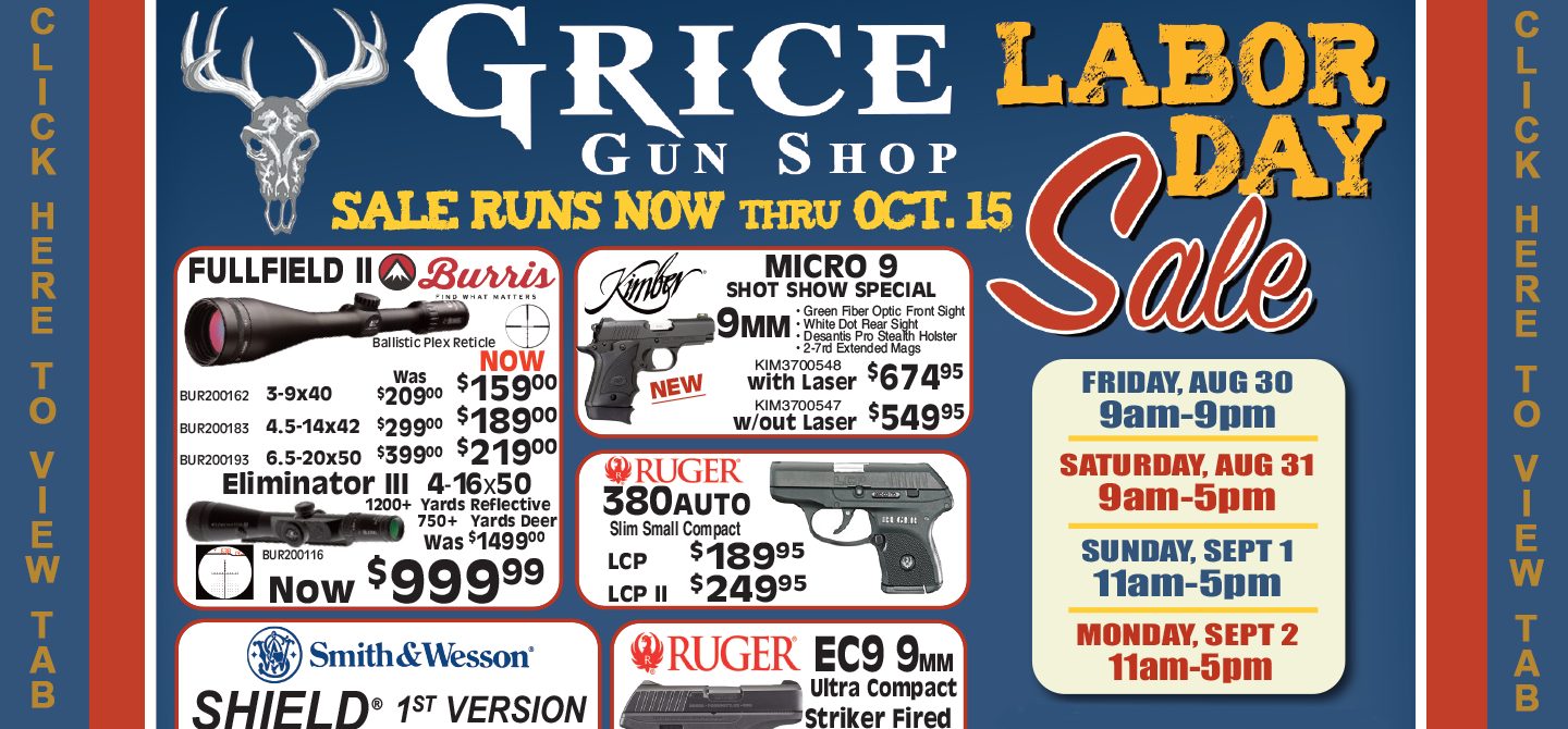 Grice Gun Shop - Pennsylvania's Largest Gun Shop