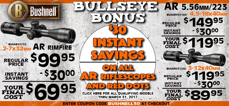Bushnell $30.00 Instant Savings